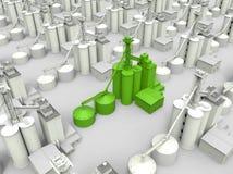 Conceito verde da produção alimentar ilustração stock