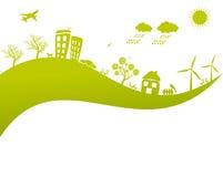 Conceito verde da terra da vida ilustração stock