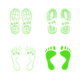 Conceito verde de Eco. Ilustração Royalty Free