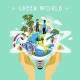 Conceito verde do mundo Imagem de Stock
