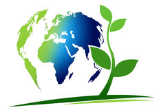 Conceito verde do planeta ilustração stock