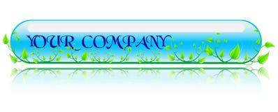 Conceito verde e azul da ilustração do vetor Imagem de Stock Royalty Free
