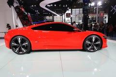 Conceito vermelho de Acura NSX fotografia de stock royalty free