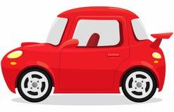 Conceito vermelho dos desenhos animados do carro de esportes fotografia de stock