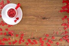 Conceito vermelho romance do dia de Valentim do coração fotografia de stock