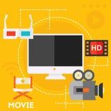 Conceito video do gráfico da produção e do movimento Imagem de Stock