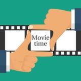 Conceito video do película ilustração stock