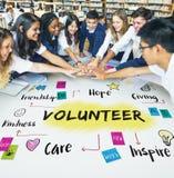 Conceito voluntário da bondade da esperança da doação da ajuda fotografia de stock