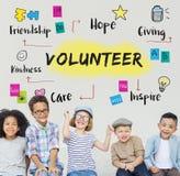 Conceito voluntário da bondade da esperança da doação da ajuda foto de stock royalty free