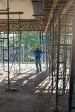 Conceitos da construção, funcionamento do coordenador e do arquiteto Foto de Stock