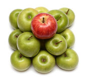 Conceitos da dominação com maçãs Imagem de Stock Royalty Free
