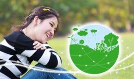 Conceitos da ecologia Imagem de Stock