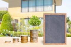 Conceitos da finança do negócio e dos bens imobiliários imagens de stock royalty free