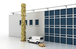Conceitos da indústria da logística Imagem de Stock