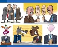 Conceitos da política dos desenhos animados ajustados Imagens de Stock Royalty Free