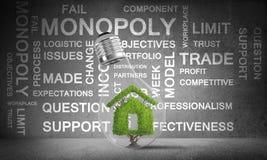 Conceitos da reciclagem da ecologia e da construção do eco Imagem de Stock Royalty Free