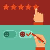 Conceitos da revisão do cliente do vetor no estilo liso Imagem de Stock