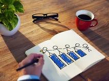Conceitos de Brainstorming About Success do homem de negócios fotos de stock