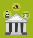 Conceitos de justiça Imagem de Stock