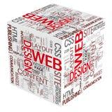Conceitos de projeto do Web ilustração stock