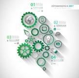 Conceitos de projeto lisos de UI para o infographics original Imagens de Stock