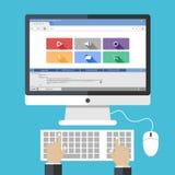 Conceitos de projeto lisos para Web site do desenvolvimento e apps da Web