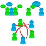 Conceitos de uma comunicação Foto de Stock