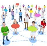 Conceitos diversos do grupo de pessoas e da conexão imagens de stock royalty free