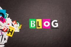 Conceitos do blogue Imagens de Stock