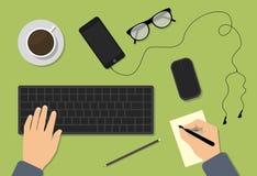 Conceitos do espaço de trabalho para a educação Imagem de Stock Royalty Free