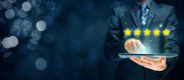 Conceitos do feedback, da revisão e da avaliação foto de stock royalty free