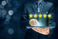Conceitos do feedback, da revisão e da avaliação fotografia de stock