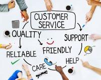 Conceitos do grupo de pessoas e do serviço ao cliente Fotos de Stock