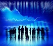 Conceitos do mercado de valores de ação de uma comunicação empresarial Fotografia de Stock