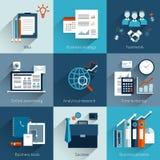 Conceitos do negócio ajustados Fotos de Stock