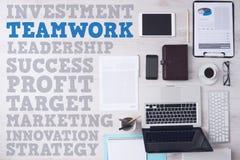 Conceitos do negócio e do mercado no desktop do escritório foto de stock royalty free