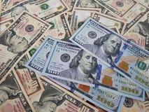 Conceitos do negócio, fundo, investimento da finança e troca de dinheiro: Dinheiro americano do dólar pronto para investir em tod imagem de stock royalty free