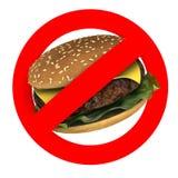 Conceitos do perigo do fast food ilustração stock