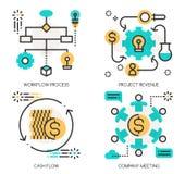 Conceitos do processo dos trabalhos, rendimento do projeto ilustração royalty free