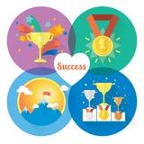 Conceitos do sucesso e da vitória do vetor Imagem de Stock