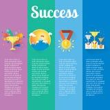 Conceitos do sucesso e da vitória do vetor Fotografia de Stock Royalty Free