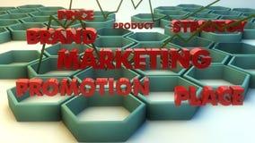 Conceitos do texto do mercado 3d Fotografia de Stock Royalty Free