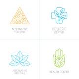 Conceitos do vetor e moldes do projeto do logotipo ilustração royalty free