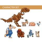 Conceitos dos caráteres do jogo, ilustração Fotos de Stock Royalty Free