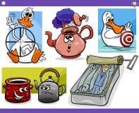 Conceitos e ideias dos desenhos animados ajustados Fotos de Stock