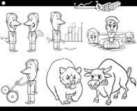 Conceitos e ideias dos desenhos animados do negócio ajustados Fotos de Stock Royalty Free