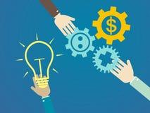 Conceitos lisos da ilustração do projeto para a ideia, mercado, brainstor Fotos de Stock Royalty Free