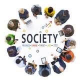 Conceitos Multi-étnicos do grupo de pessoas e da sociedade foto de stock royalty free