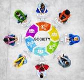Conceitos Multi-étnicos do grupo de pessoas e da sociedade fotografia de stock royalty free