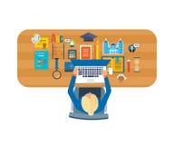 Conceitos para a análise de negócio, a consulta, os trabalhos de equipa, o relatório financeiro e a estratégia Imagens de Stock
